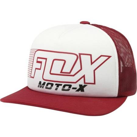 CZAPKA Z DASZKIEM FOX LADY THROTTLE MANIAC TRUCKER DARK RED