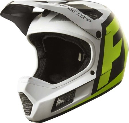 Kask rowerowy FOX RAMPAGE COMP CREO White/Yellow